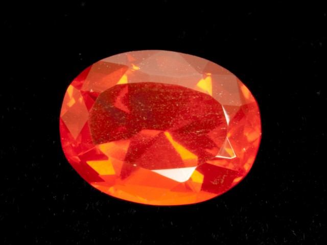 4.1ct Dark Orange Oval Mexican Fire Opal (MO158)