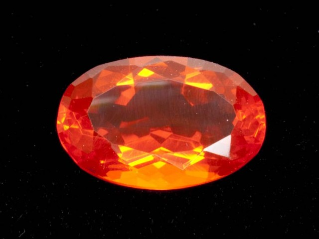 2.5ct Orange Oval Mexican Fire Opal (MO159)