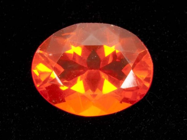 1.9ct Dark-Orange Oval Mexican Fire Opal (MO162)