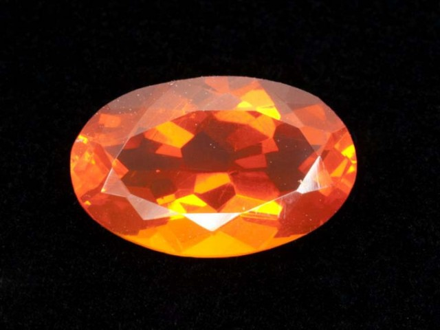 2.5ct Orange Oval Mexican Fire Opal (MO163)