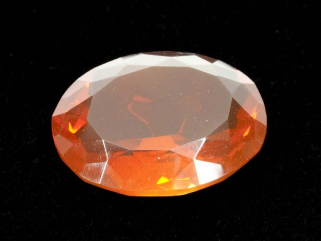 4.1ct Orange Faceted Oval Mexican Fire Opal (MO164)