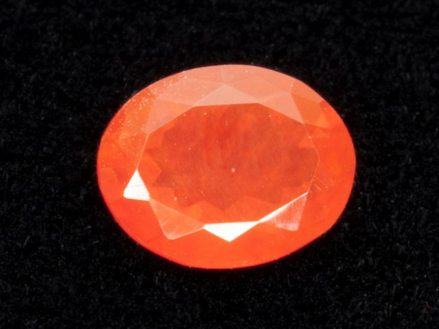 1.4ct Faceted Dark-Orange Oval Mexican Fire Opal (MO181)