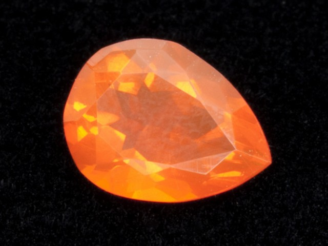 1.6ct Faceted Orange Pear Mexican Fire Opal (MO185)