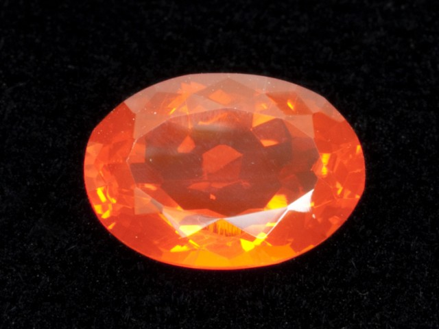 2.6ct Faceted Orange Oval Mexican Fire Opal (MO187)