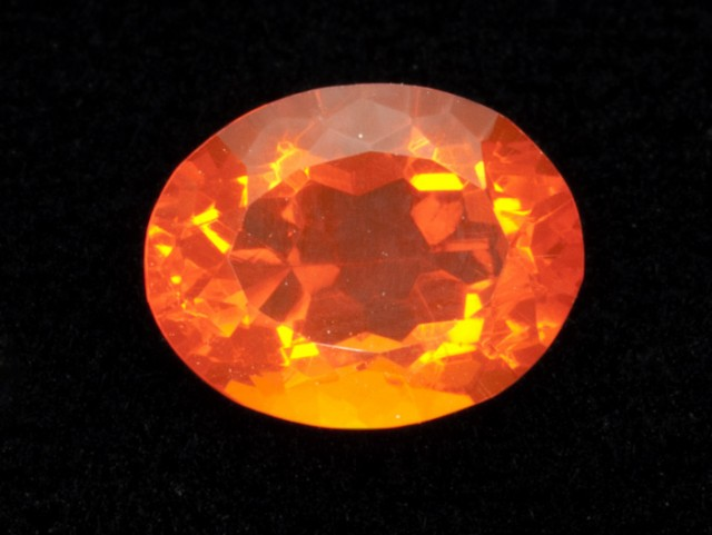 2.4ct Faceted Orange Oval Mexican Fire Opal (MO190)