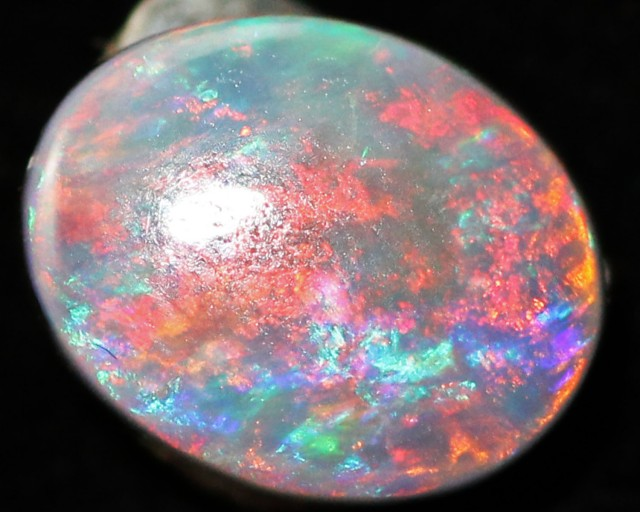 1.00 Cts Natural Untreated  Red fire Mintabie  Opal QOM 1180