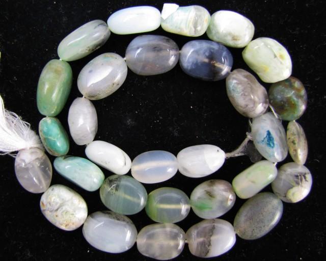160 Cts Strand peru Opal beads    QOM 1223
