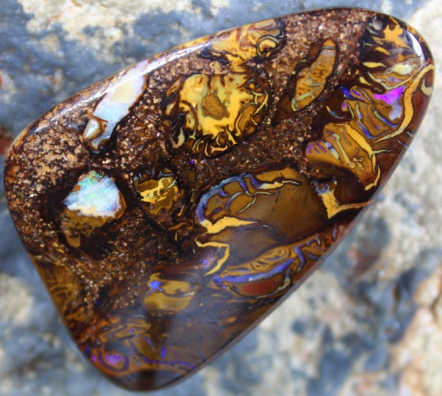 67.75 CTS  CONGLOMERATE YOWAH OPAL POLISHED STONE C4267