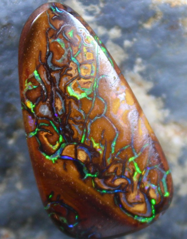 11.30 CTS YOWAH OPAL GREAT PATTERN TOP POLISH STONE C4345