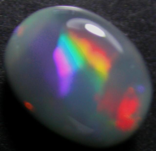 LOVELY LIGHTNING RIDGE BLACK OPAL.70 CTS   (3VI)