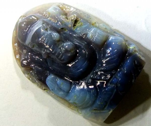 32 CTS OPAL CARVING - GANESH   LO-239