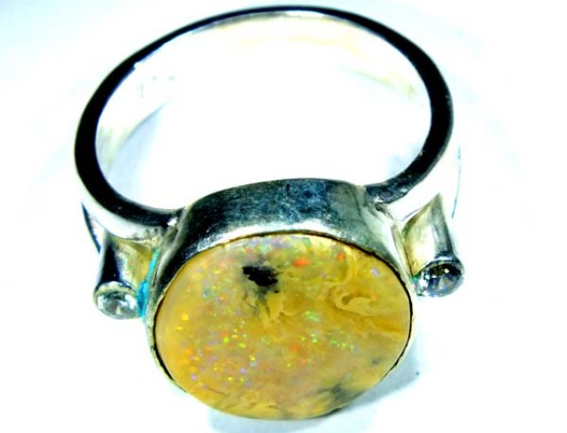 RING BOULDER SOLID OPAL  24 CTS SIZE-  OF-332