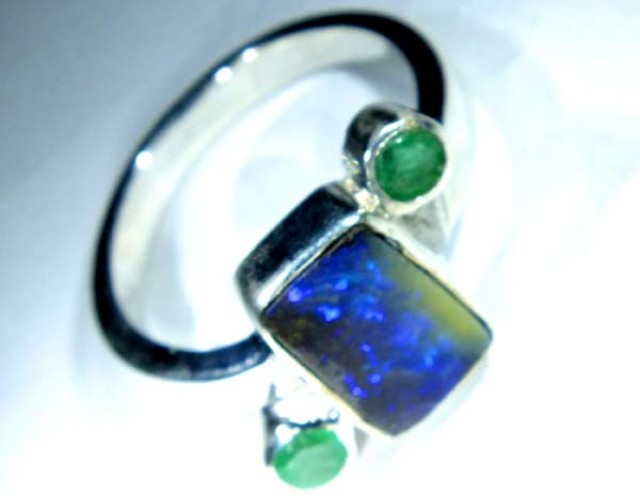 RING BOULDER SOLID OPAL 23  CTS SIZE-  OF-335