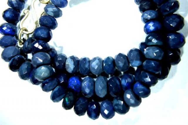 BLACK OPAL BEADS NECKLACE  DRILLED  100 CTS  TBO 902