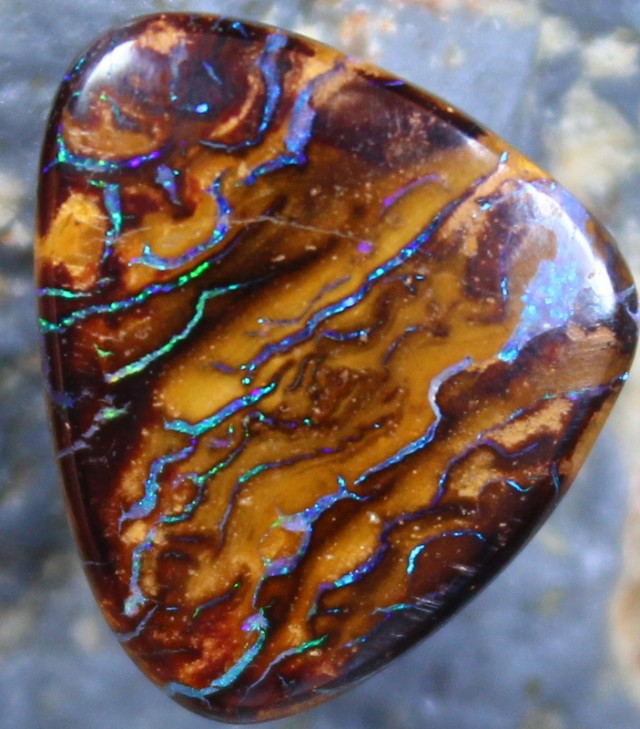 7.50 CTS YOWAH OPAL GREAT PATTERN TOP POLISH STONE C4662