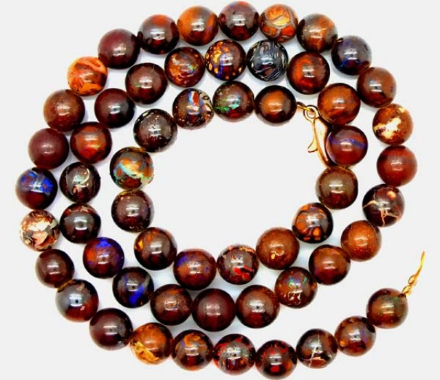 BOULDER  OPAL BEADS  DRILLED NECKLACE 160  CTS LO-281
