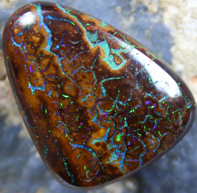 20.00 CTS YOWAH OPAL GREAT PATTERN TOP POLISH STONE C4901