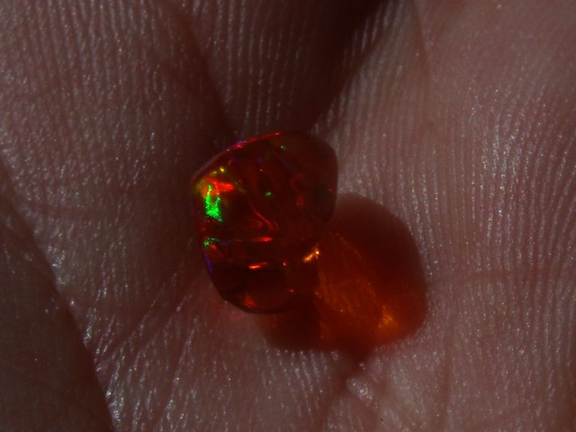 1.37 Cts. FreeForm carved Fire Mexican Opal