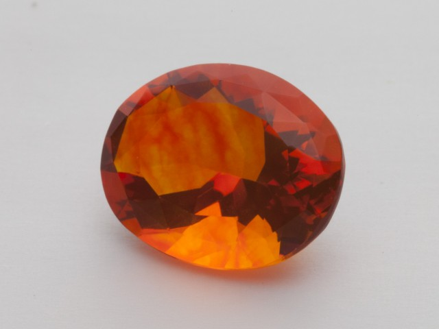 5.7ct Faceted Orange Oval Mexican Fire Opal (MO197)