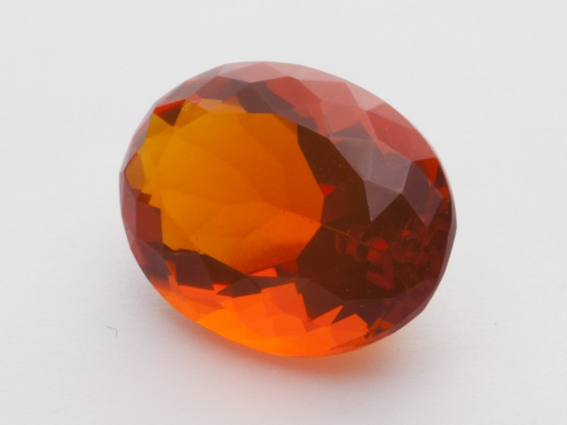 6.1ct Faceted Red Oval Mexican Fire Opal (MO202)