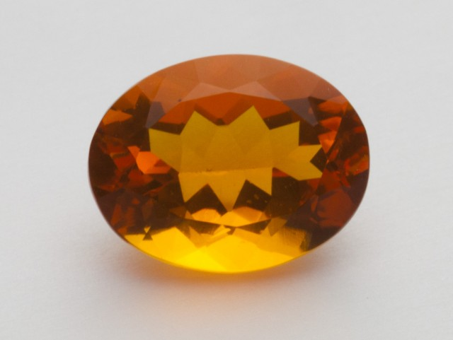 3.8ct Faceted Orange Oval Mexican Fire Opal (MO213)
