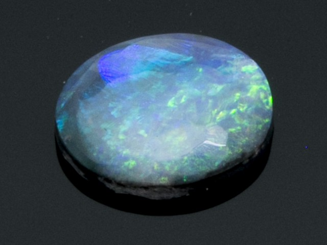 0.7ct Oval Cabochon Black Opal (BK21)