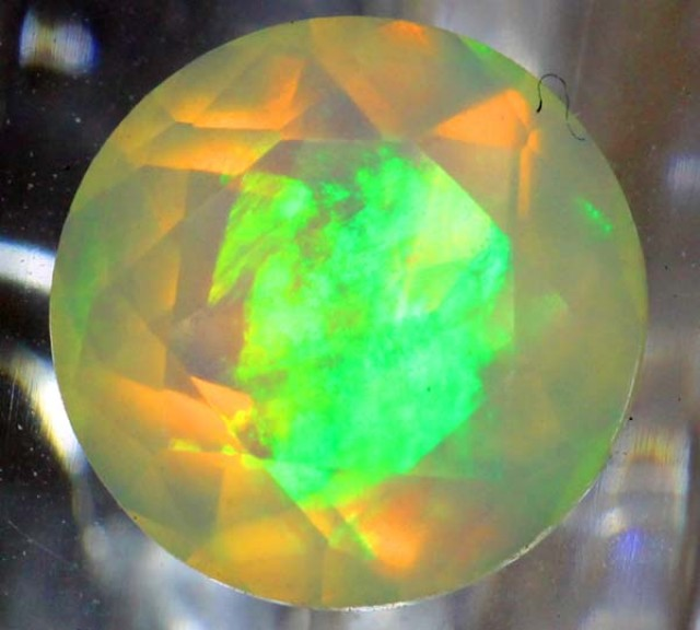 0.85 CTS ETHIOPIAN OPAL FACETED  STONE FOB-102