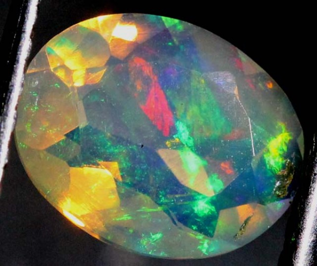 ETHIOPIAN OPAL FACETED CUT STONE0.85  CTS  FOB-129
