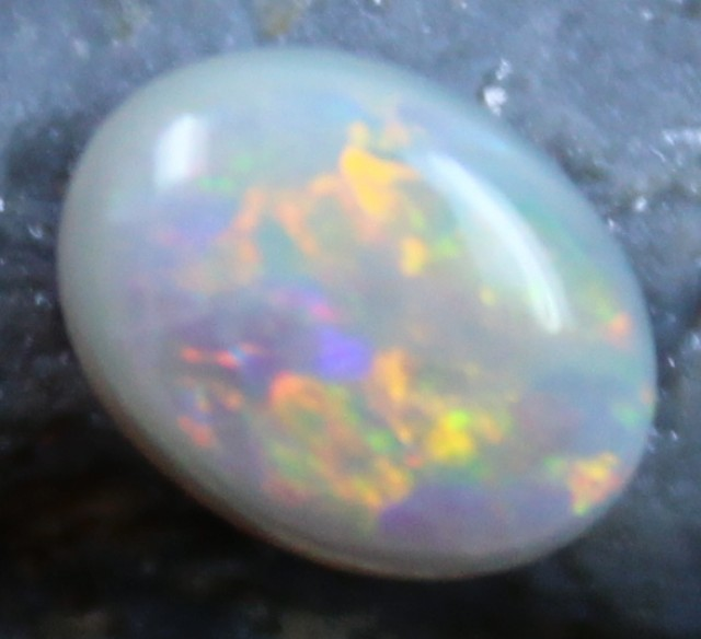 1.05 CTS SEMI BLACK OPAL CABOCHON CUT POLISHED STONE C4981