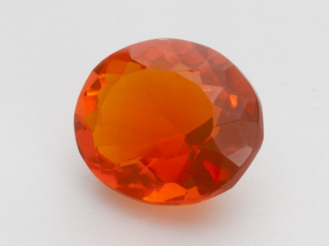 2.1ct Faceted Orange Oval Mexican Fire Opal (MO218)