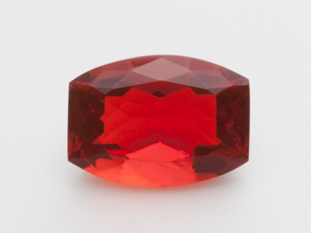 2.7ct Faceted Dark-Orange Barrel Mexican Fire Opal (MO222)
