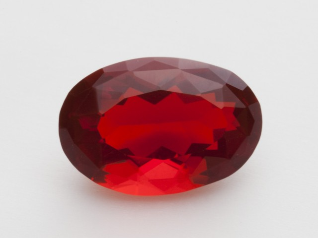 4.2ct Faceted Red Oval Mexican Fire Opal (MO226)