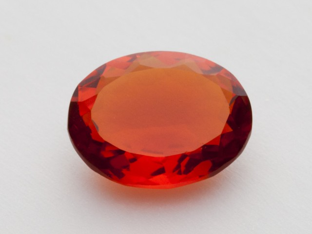 2.1ct Faceted Orange Oval Mexican Fire Opal (MO260)