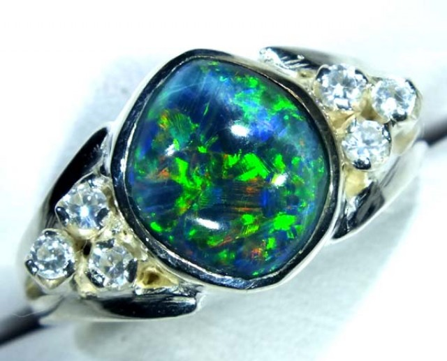 TRIPLET SILVER RING  22.2  CTS SIE 7.25 OF-353