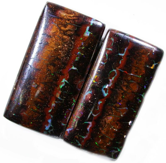 43.00 CTS YOWAH WELL POLISHED PAIR [SO1119]