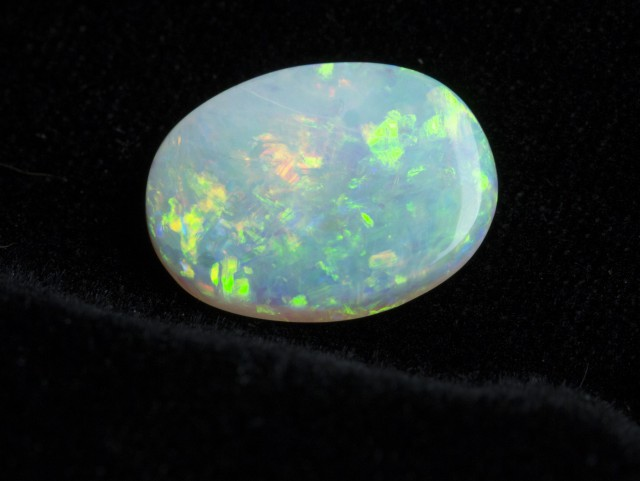 4ct Oval Rainbow Floral Crystal Opal (CY16)