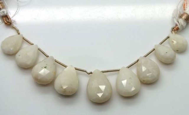 WHITE OPAL BEADS 52.9 CTS  TBO-1181