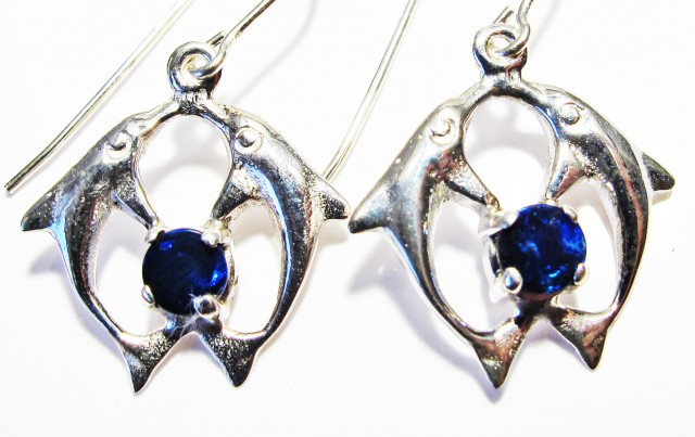 DOUBLET EARRINGS DOLPHIN  [SOJ3805]