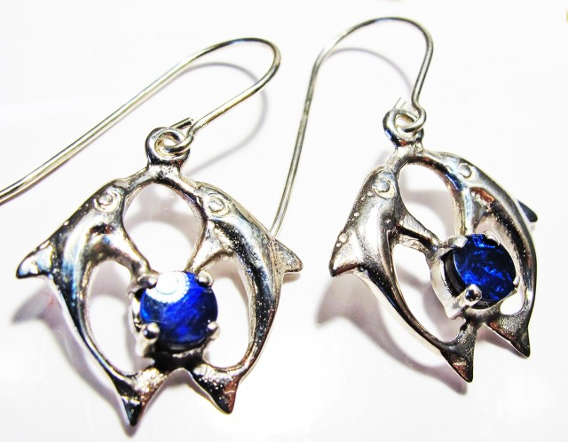 DOUBLET EARRINGS DOLPHIN  [SOJ3808]