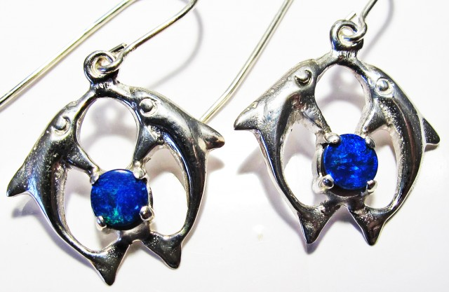 DOUBLET EARRINGS DOLPHIN  [SOJ3809]