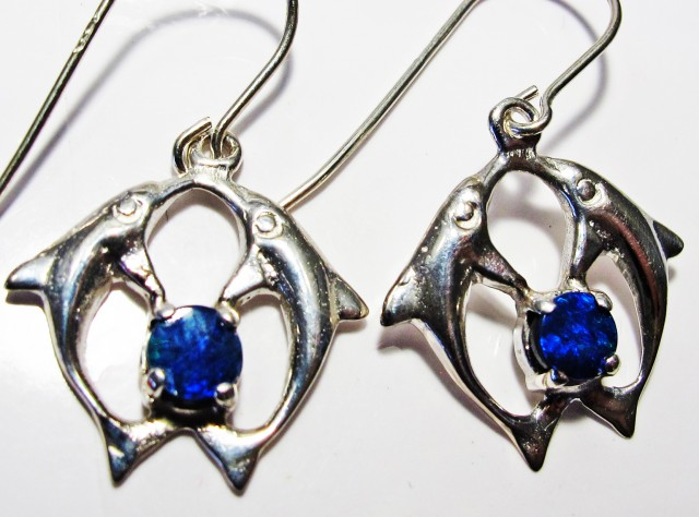 DOUBLET EARRINGS DOLPHIN  [SOJ3811]