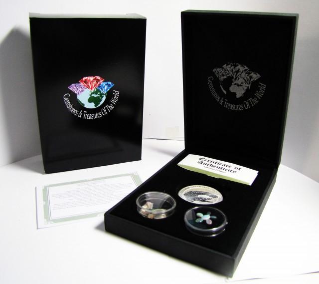 Crocodile Silver Coin &  black Opal series CCO 115