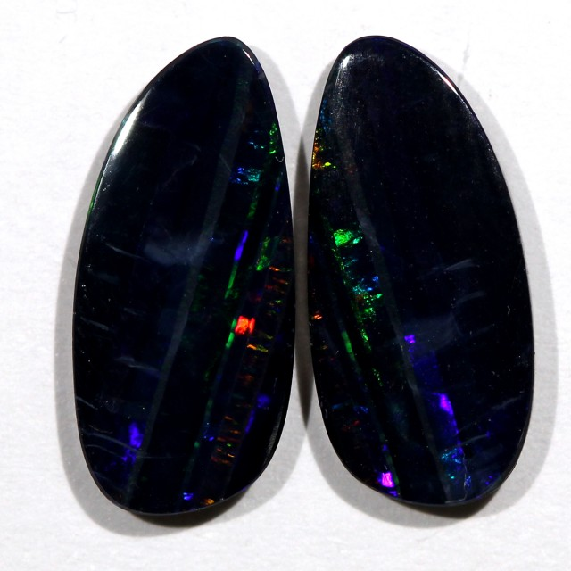 3.42 cts Australian Opal Doublet - Matched Pair (R2277)