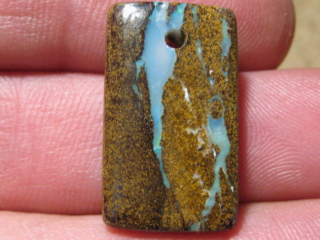 YowahOpals*22.30Cts-'Drilled' Australian Boulder Opal.