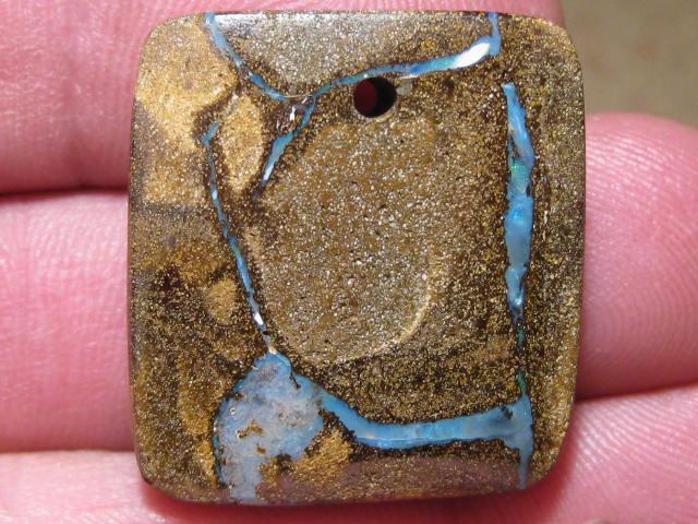YowahOpals*53.65Cts-'Drilled' Australian Boulder Opal.