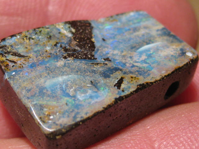 YowahOpals*41.90Cts-'Drilled' Australian Boulder Opal.