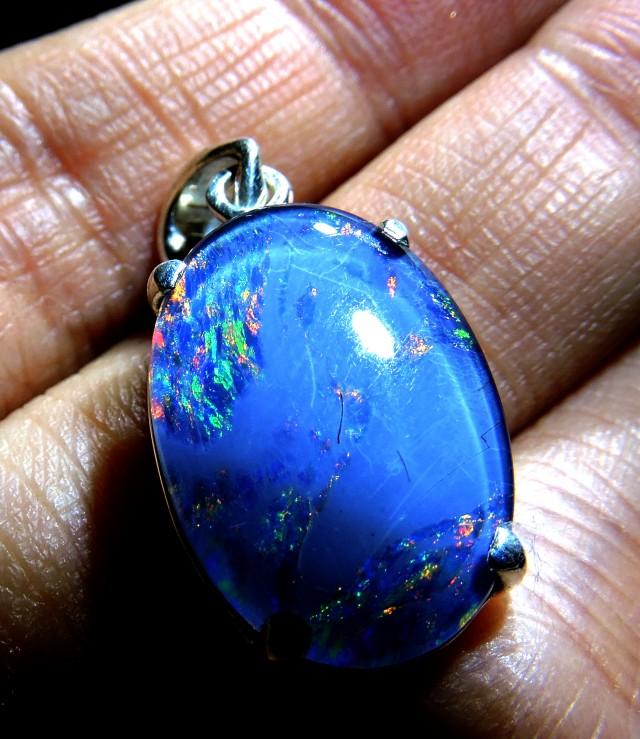 Large Triplet Opal silver pendant QOM 1305
