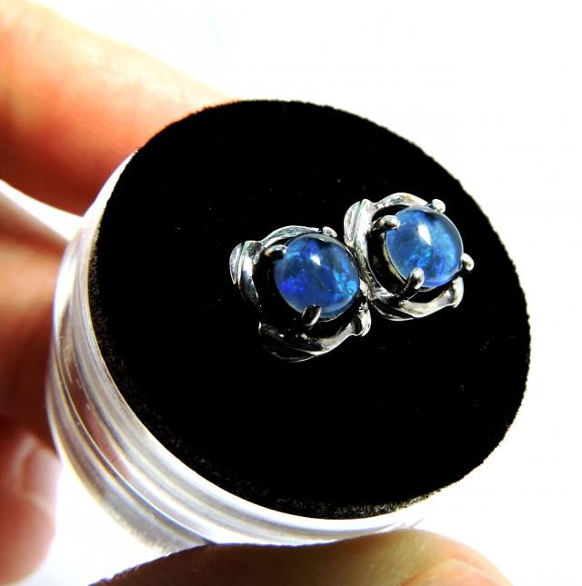 Cute  Triplet opal earrings silver Pl 1077