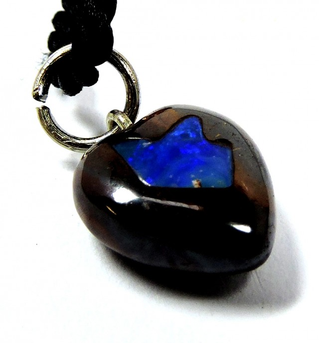 8.9 CTS INLAY HEART SHAPE  BOULDER OPAL MMR 603