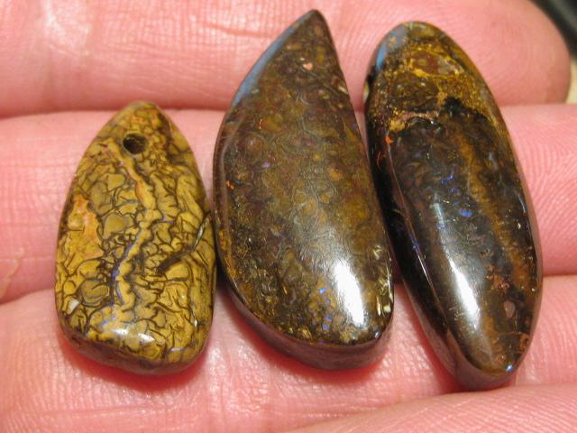 YowahOpals*98.10Cts-'Drilled' 3 Boulder Opal Parcel.